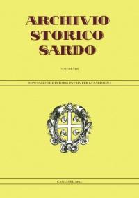 Archivio Storico Sardo - Volume n. XLII - Deputazione di Storia Patria per la Sardegna
