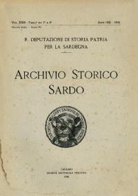 Archivio Storico Sardo - Volume n. XXIII - Regia Deputazione di Storia Patria per la Sardegna
