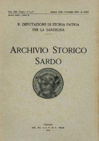 Archivio Storico Sardo - Volume n. XXI Fasc. 3 e 4 - Regia Deputazione di Storia Patria per la Sardegna