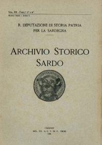 Archivio Storico Sardo - Volume n. XX Fasc. 3 e 4 - Regia Deputazione di Storia Patria per la Sardegna