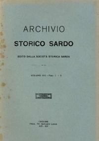 Archivio Storico Sardo - Volume n. XIX - Società Storica Sarda