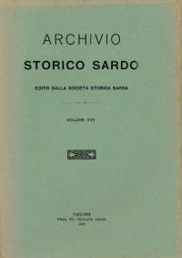 Archivio Storico Sardo - Volume n. XVII - Società Storica Sarda