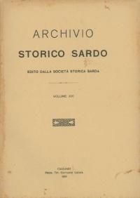 Archivio Storico Sardo - Volume n. XVI - Società Storica Sarda