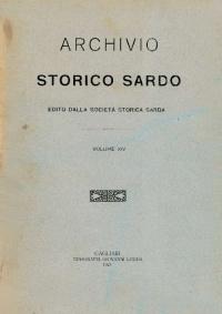 Archivio Storico Sardo - Volume n. XIV - Società Storica Sarda