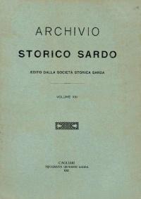 Archivio Storico Sardo - Volume n. XIII - Società Storica Sarda
