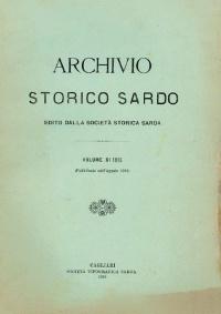 Archivio Storico Sardo - Volume n. XI - Società Storica Sarda
