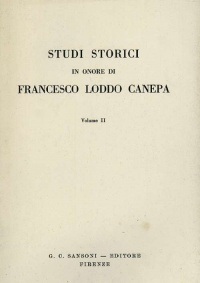 STUDI STORICI IN ONORE DI FRANCESCO LODDO CANEPA VOL. II - G.C. SANSONI