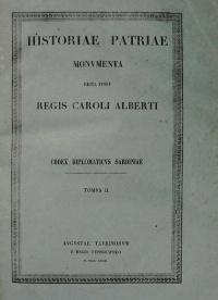 CODEX DIPLOMATICUS SARDINIAE - TOMO II