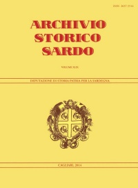 Archivio Storico Sardo - Volume n. XLIX - Deputazione di Storia Patria per la Sardegna