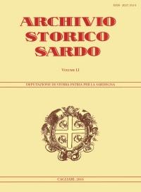 Archivio Storico Sardo - Volume n. LI - Deputazione di Storia Patria per la Sardegna