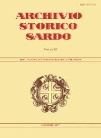 Archivio Storico Sardo - Volume n. LII - Deputazione di Storia Patria per la Sardegna