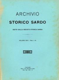Archivio Storico Sardo - Volume n. XVIII Fasc. I-IV - Società Storica Sarda