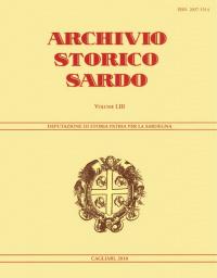 Archivio Storico Sardo - Volume n. LIII - Deputazione di Storia Patria per la Sardegna