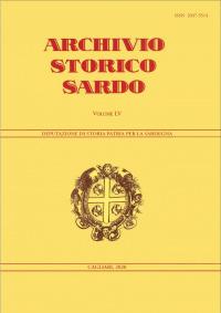 Archivio Storico Sardo - Volume n. LV - Deputazione di Storia Patria per la Sardegna