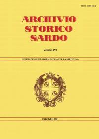 Archivio Storico Sardo - Volume n. LVI - Deputazione di Storia Patria per la Sardegna